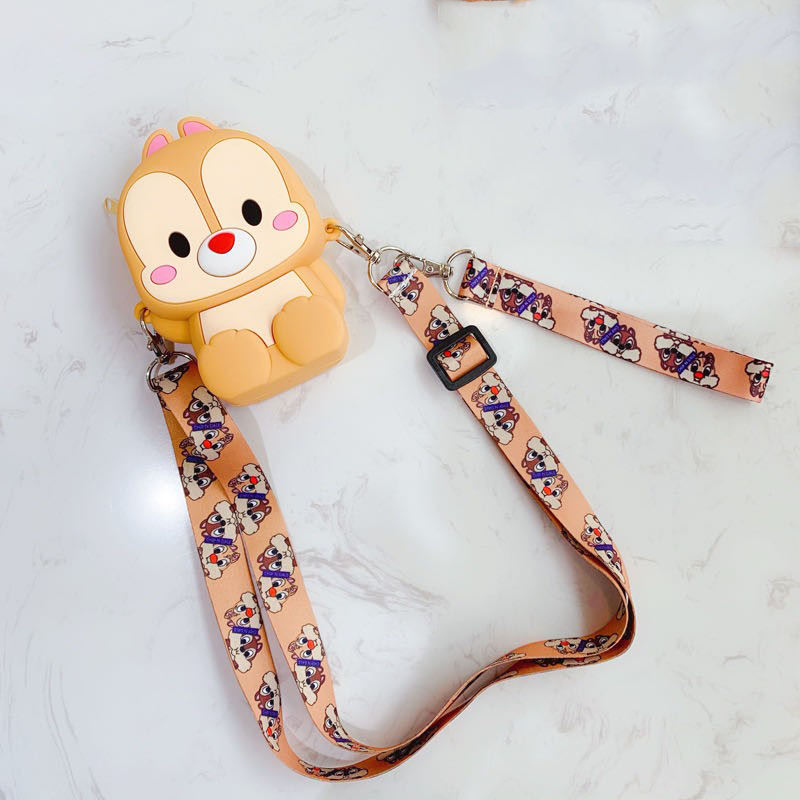 Custom new fashion lovely cute small size street shoulder messenger girls and kids cartoon sling Silicone bag for coins