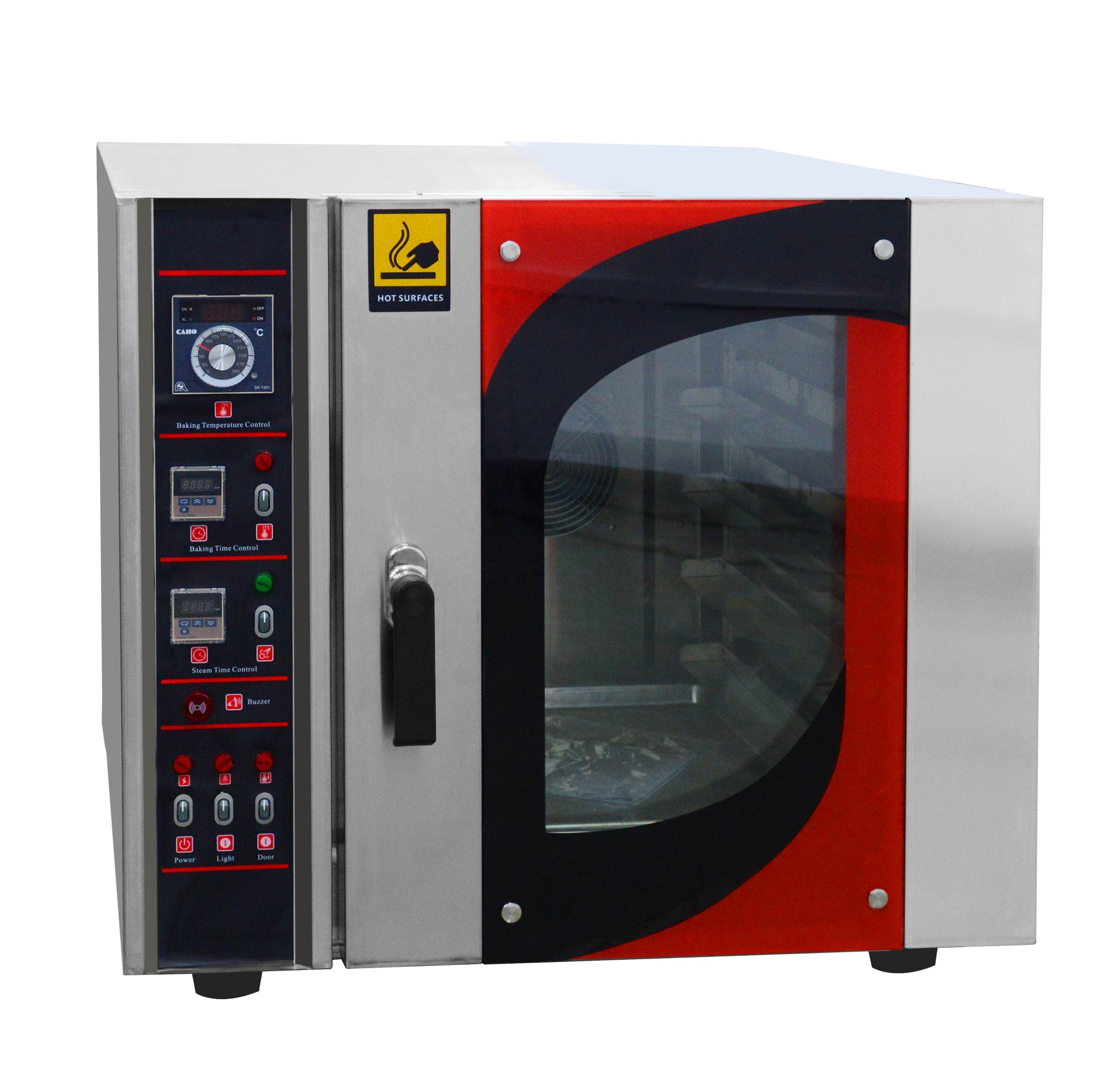 Kitchen Equipment Commercial 5 Trays Hot Air Steam Convection Electric Oven with Fan