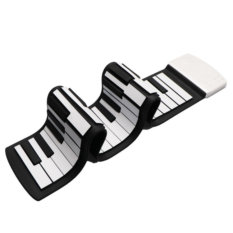 Portable 49 Keys Flexible Roll Up Piano Electronic Soft Keyboard Piano Silicone piano Keyboard.