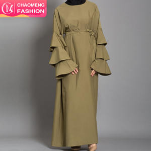9073# Modern Collection Plus Size Long SleeveMaxi Islamic Clothing Sports Kimono Dubai Wholesale Abaya Muslim Dress