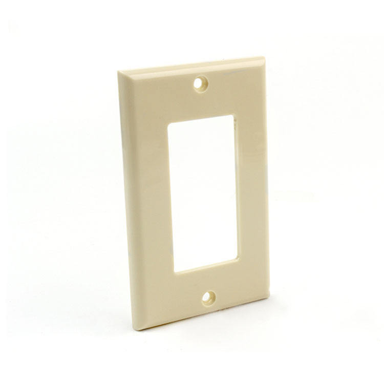 1 Placa de pared tornillo decorar/gfci interruptores de pared cubierta de plástico placa de pared