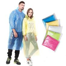 Cheap Wholesale Disposable PE Rain poncho Rain coat Raincoat