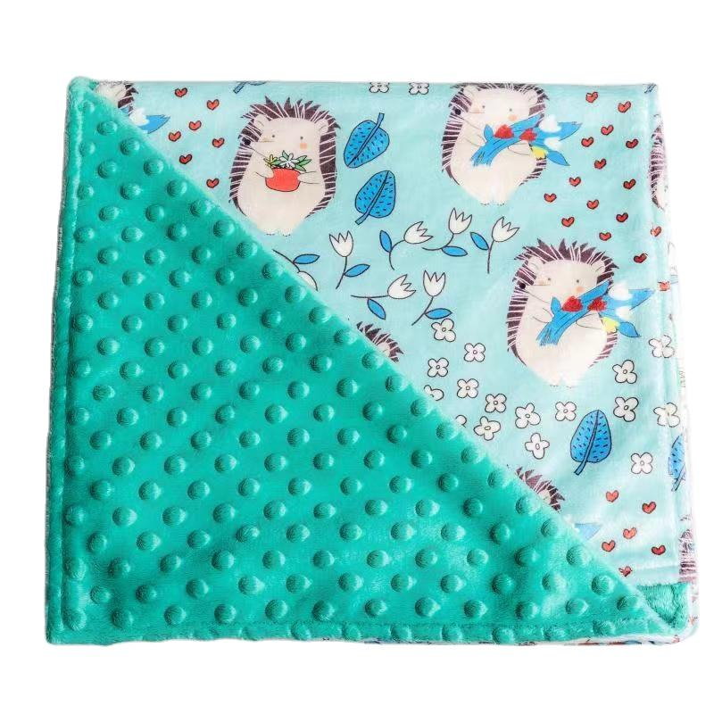 High quality 100% polyester embossed dot bubble fabric soft silk fabric for Blanket