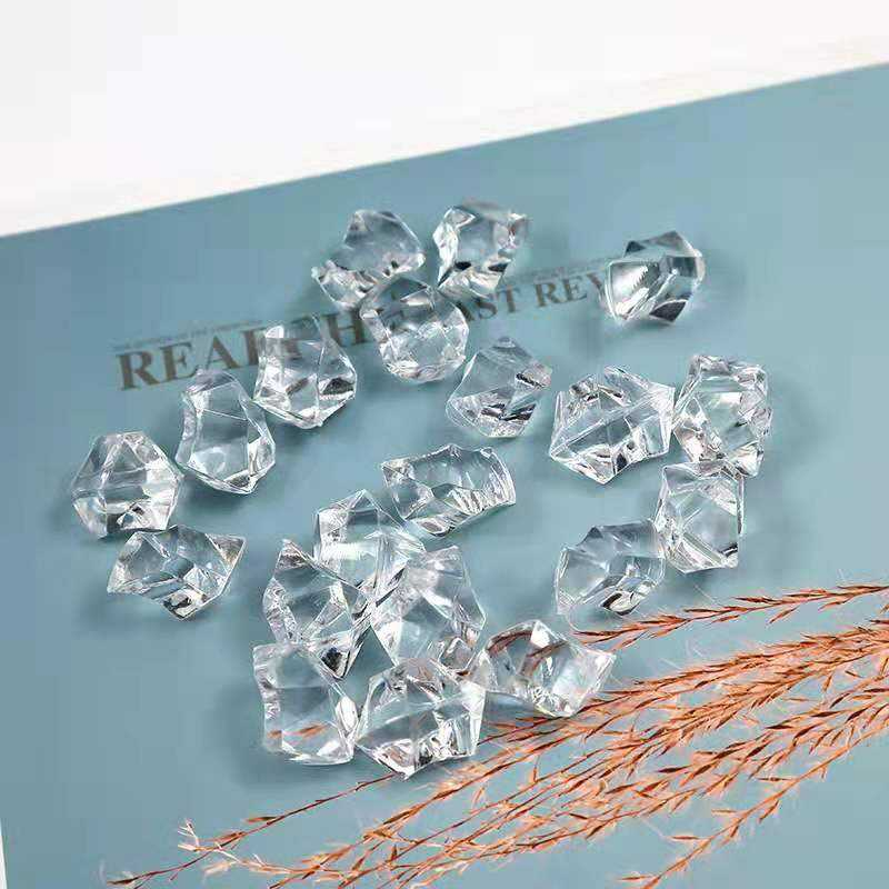 Christmas 2-3mm 6*9mm 10mm Artificial Shave Ice Stone Decorative Plastic Crystal Acrylic Wedding Ice Cube