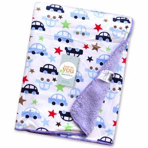 Good selling double layers infant fleece blanket printed thick and soft baby blanket