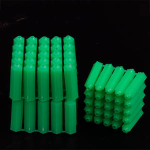 plastic expansion pipe green wall anchor plug from elehk fastener