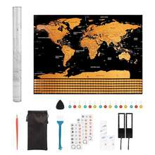 Wholesale Customized scratch off map luxurious Exquisite world map with Exquisite design