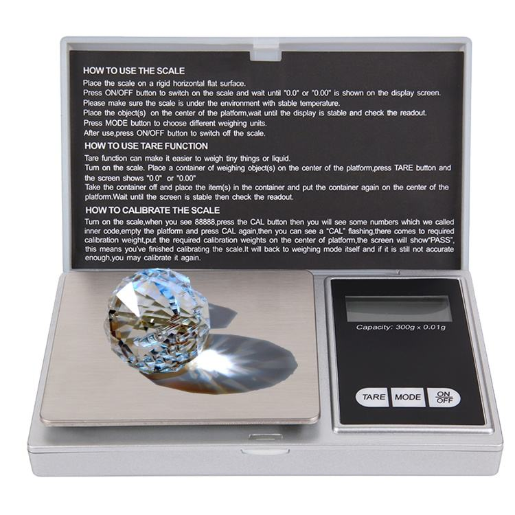 0.01g 100g Household Jewelry Balance Diet Kitchen Stainless Steel Electronic Digital Weighing Pocket Scale