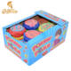 Chaozhou Manufacture Big Size Fruity Crazy Roll Tape Brand Chewing Bubble Gum In Plastic Container