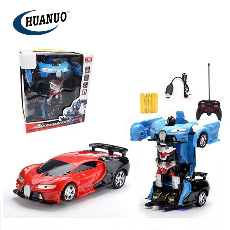 1:18 scale toy transform remote control car transform car toy with light