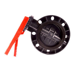 manufacturer best pricelist pvc wafer lever d71x gray butterfly valve