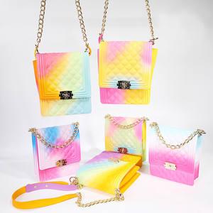 jelly purse handbags 2020 new ladies handbag transparent metal decorative shoulder bag Messenger bags clear jelly bag