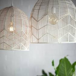Wholesales elegant white rattan lampshade, pendant lamps for decoration