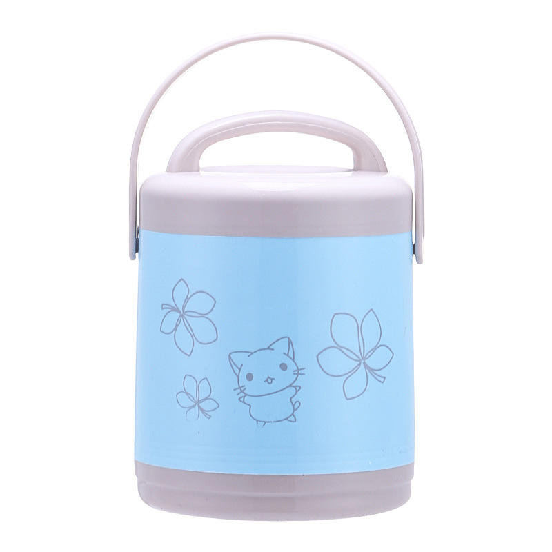 1.2L PP And Stainless Steel Thermos Food Warmer Container Tin Insulated Lunch Box With Handle