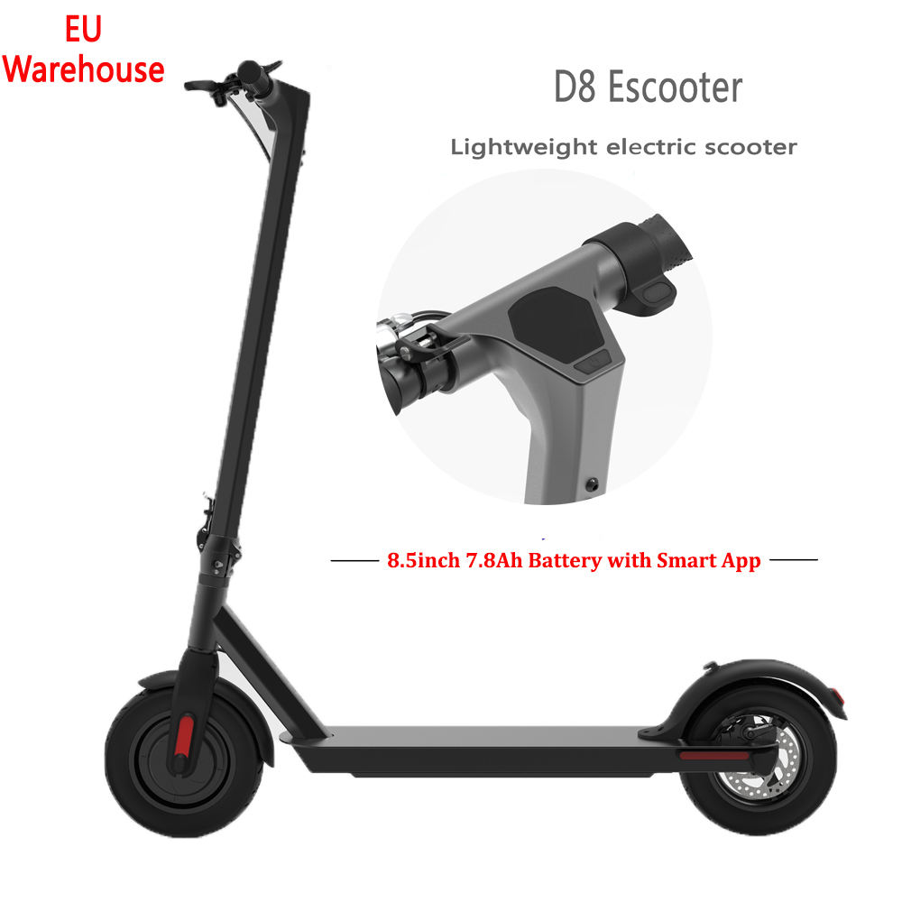 EU warehouse stock adult foldable electric scooter m365 PRO scooter wholesale, with 350W8.5 inch motor and 7.8ah battery