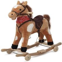 Best Selling Brown Color Plush Rocking Horse with wheels