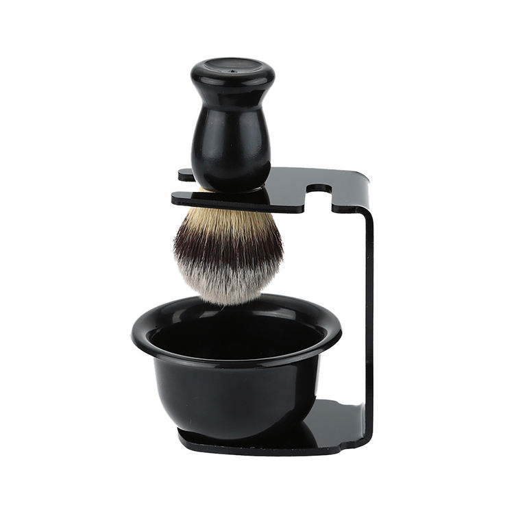 High quality soft hair high-end men's beauty tools Men's shaving tools shaving brush set with rack