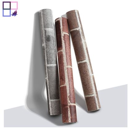 Wholesale vintage wall papers 3d papier peint home decoration brick pvc wallpaper