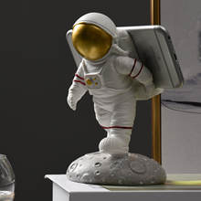 Handmade resin astronaut house decor Cutest Funny Unique Cell 3d Mobile Phone Holder Stand Spaceman Figurine Astronaut