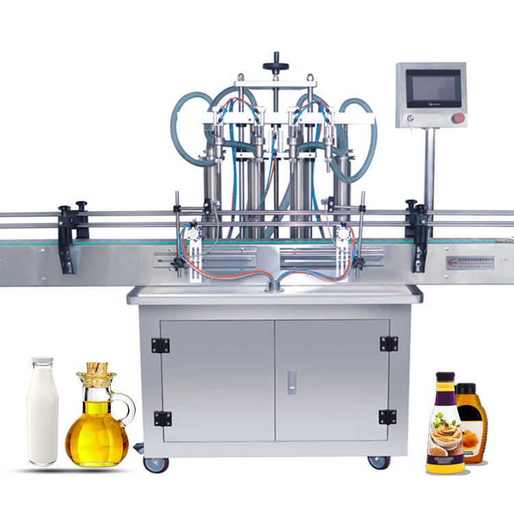 4 head Automatic Bottle Line Plant Beverage Juice Carbonated Drink Soda Soft Drink Water Liquid Filling Machine