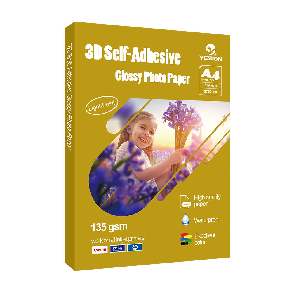 135gsm 3D glossy self-adhesive photo paper