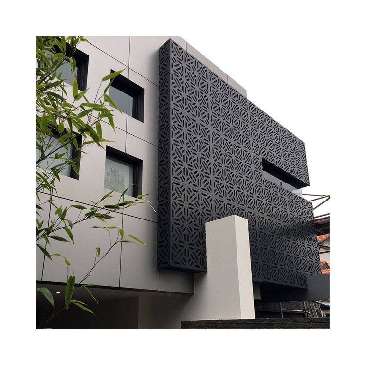 High Quality Decorative Curtain Wall Aluminum Perforated Sheet Interior Aluminum Mesh Punching Sheet Metal Fence Panels