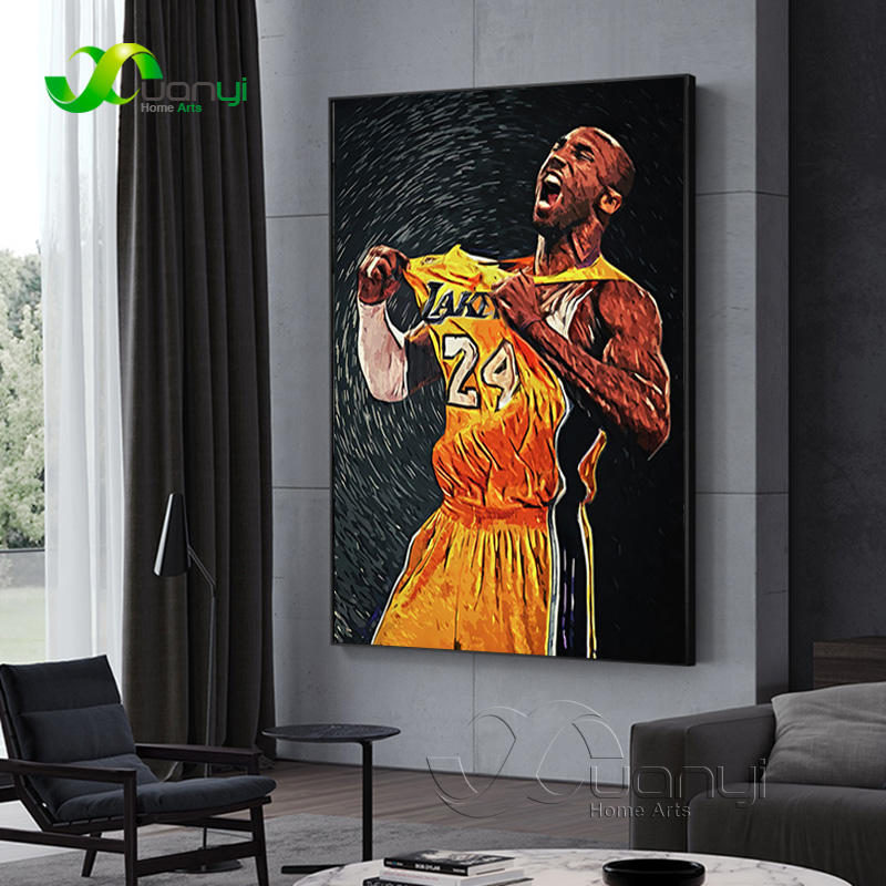 Basketball Super Star Kobe Bryant Modern Canvas Painting Posters And Prints Home Cuadros Wall Picture For Living Room Decoration