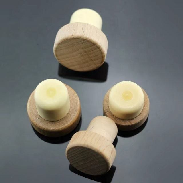 Wine Bottle Screw Caps Plastic Natural Cork Stopper For Wine Bottle Caps