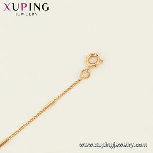 46026xuping jewelry 18k gold chain necklace jewelry fashion long gold chain simple design