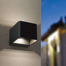 Kontak IP65 black white box style hotel Modern LED wall sconce outdoor LED wall light square up down LED wall lamp