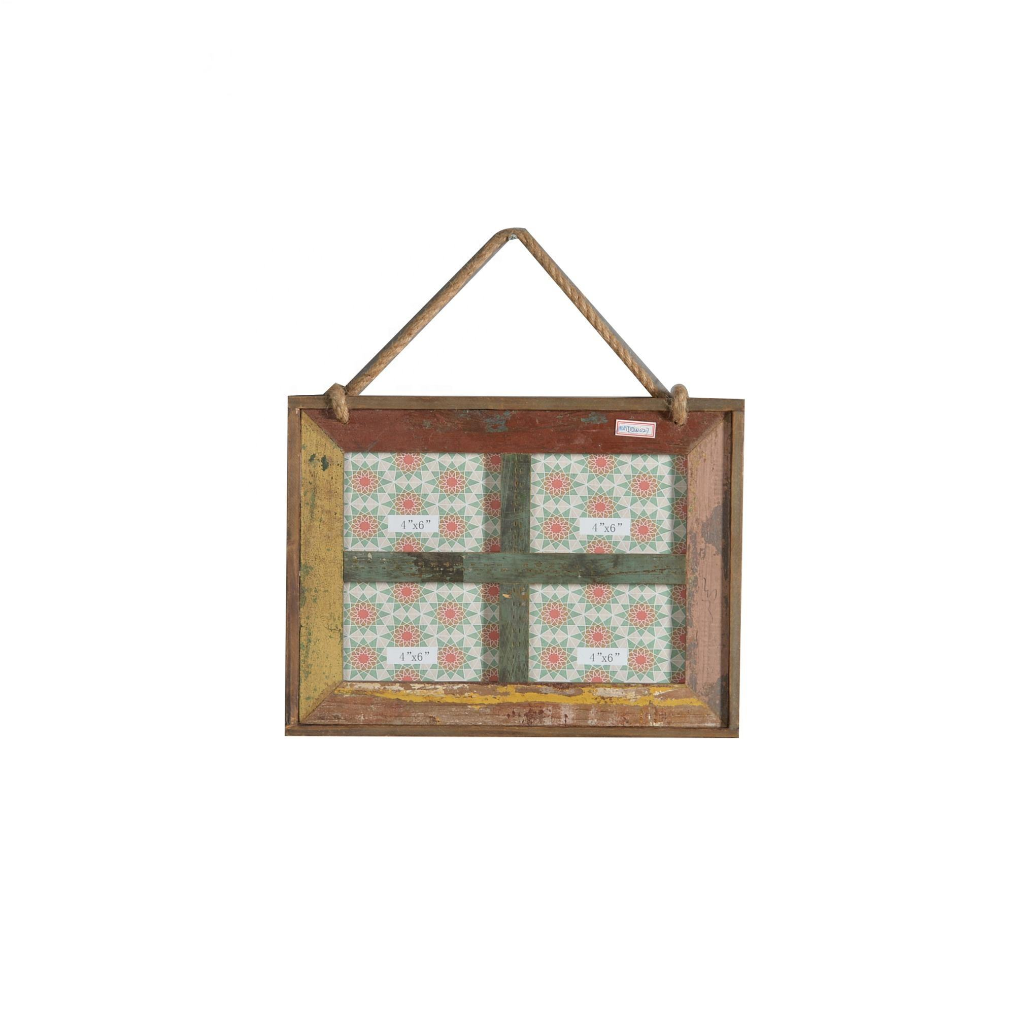 Mayco Groothandel Shabby Chic Antieke Decoratieve Houten <span class=keywords><strong>4X6</strong></span> Muur Opknoping Foto Frames
