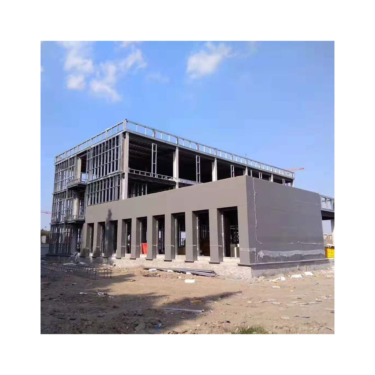 Warehouse Building Materials, Multi-Story Steel Structure Warehouse, Welded Steel Structure Building