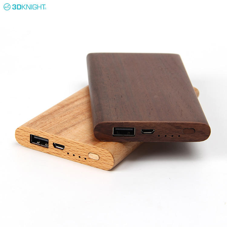 2020 best small rohs customized mobile charger slim portable wood power bank