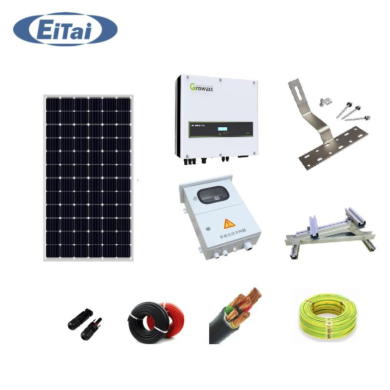 GTS-246 EITAI Solar Panel Kit for House Clean Energy Residential Power System Best Home Solar System 10kw 15kw 20kw With Panel