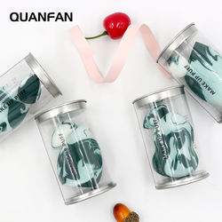 QUANFAN 2020 new products makeup sponge private label latex free camouflage marble makeup sponge set blender