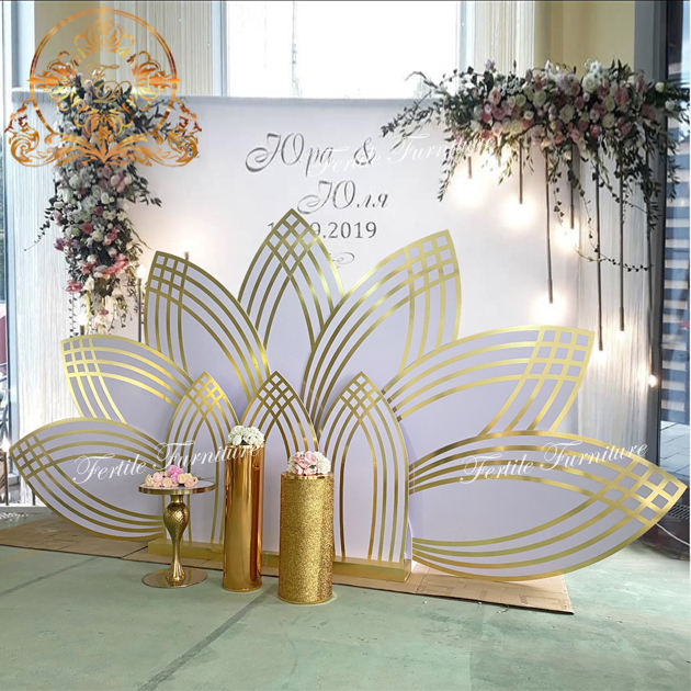 Wedding Lotus Acrylic Party Event Flower Stage Decoration Backdrop