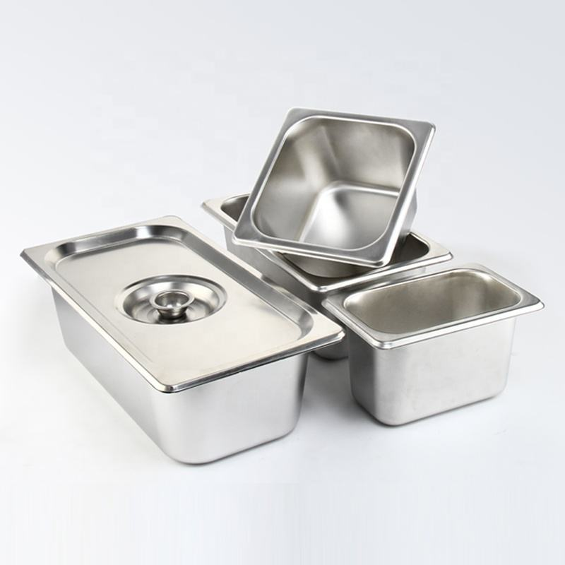 Factory Price All Size Hotel Catering Gn Food Pan Lid Stainless Steel Gn Pan