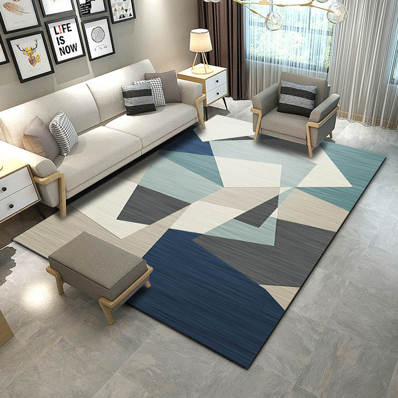 Creative Printing Carpet for Table anti-slip rug Geometric Washable Sofa Bedside Mat for Living Room