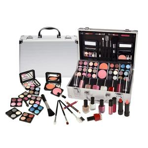 Wholesale No Logo Full Big Professional Ladies Cosmetics Beauty All In One Makeup Sets With Aluminum Box For Women
