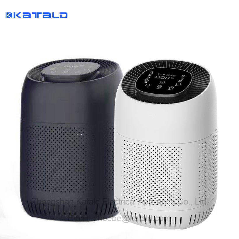 Air Purifier with True HEPA & Active Carbon Filters, Compact Purifiers Cleaner for Allergies, Home, Pets Dander, Smokers