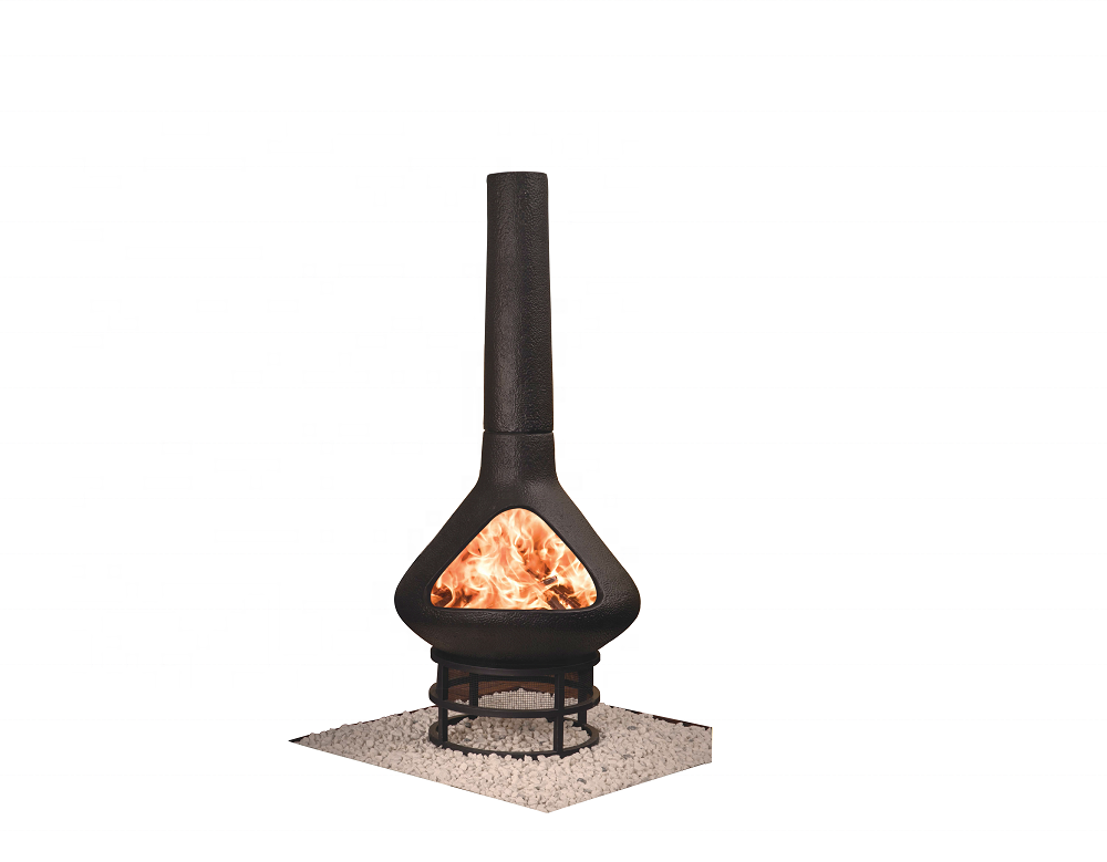 SEB KAMADO Mexican Clay Chiminea firepit, Outdoor Decorativa Mexican Chimenea Fire Pit with Chimney, Chimenea de Lena