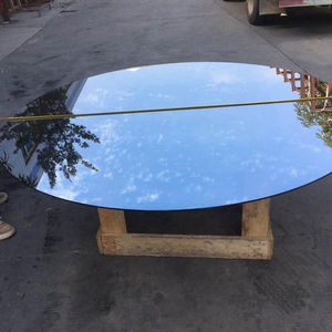 Square round tempered curved coffee table glass furniture