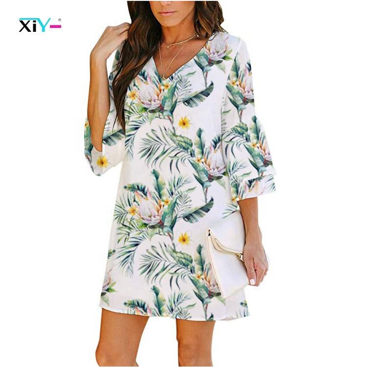 great and wonderful lady dress sexy summer women beach 3D sublimation dress for sale