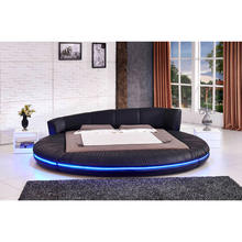 2020 hot selling modern leather bed king size leather bed