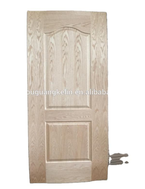 China high quality HDF/MDF ash /Red oak natural veneer door skin