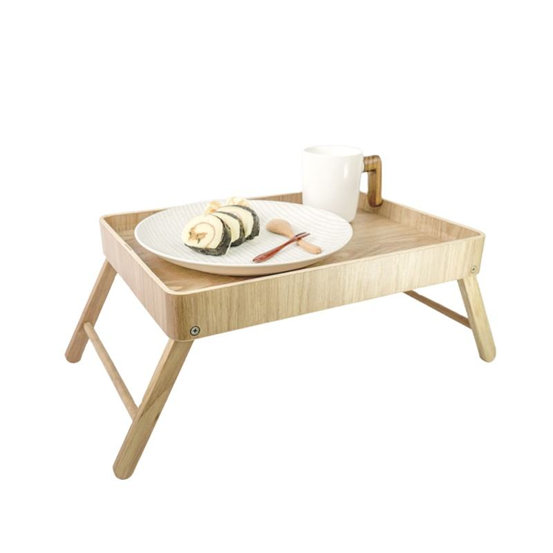 Factory Outlet Wholesale Willow Wooden Tray Custom Small Table Laptop Stand Desk Folding Table On The Bed