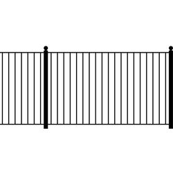 Rust-resistant outdoor wrought iron fencing security garden fences panel custom picket fences