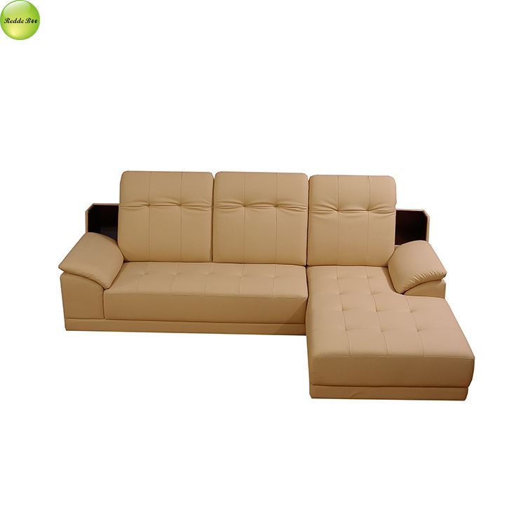 Leather combination modern living room assembling apartment set furniture R002
