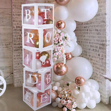 PARTYCOOL New Product White Bride To Be Balloons Box Kit Bridal Shower Party Wedding Decoration
