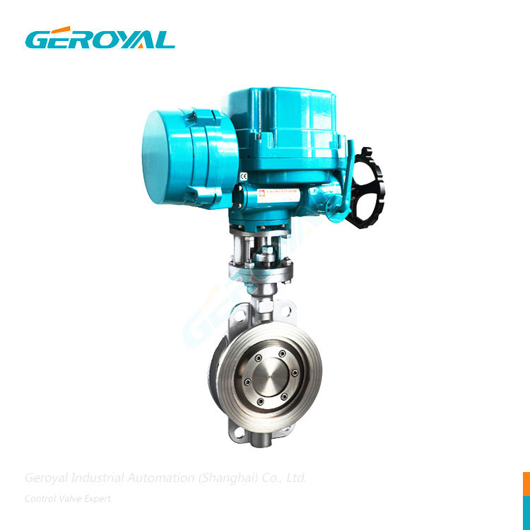 Sanitary Stainless Steel Automatic Control Butterfly Valve Electric Actuator Ss304 Ss316l Butterfly Valve
